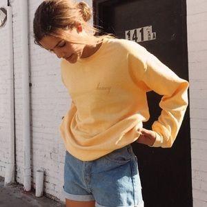 JOHN GALT Honey Crewneck Sweatshirt